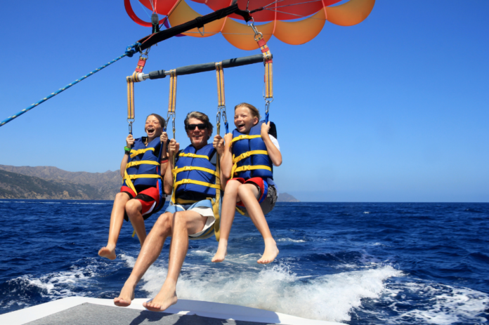 Discount price for Parasail Flight for Two at California Parasail
