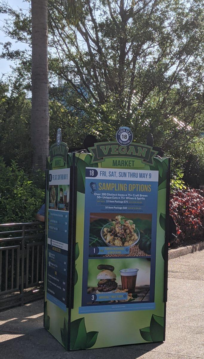 A picture of the Vegan Market at SeaWorld Orlando's Seven Seas Food Festival