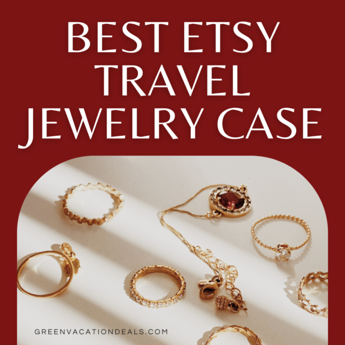 Best Etsy Travel Jewelry Case for rings, necklaces, jewellery