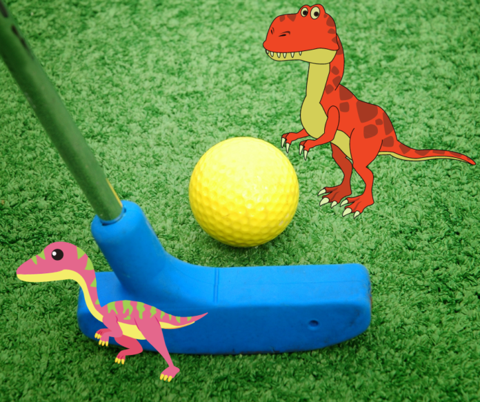 Jurassic Golf putt putt in Myrtle Beach, South Carolina discounted all day play ticket