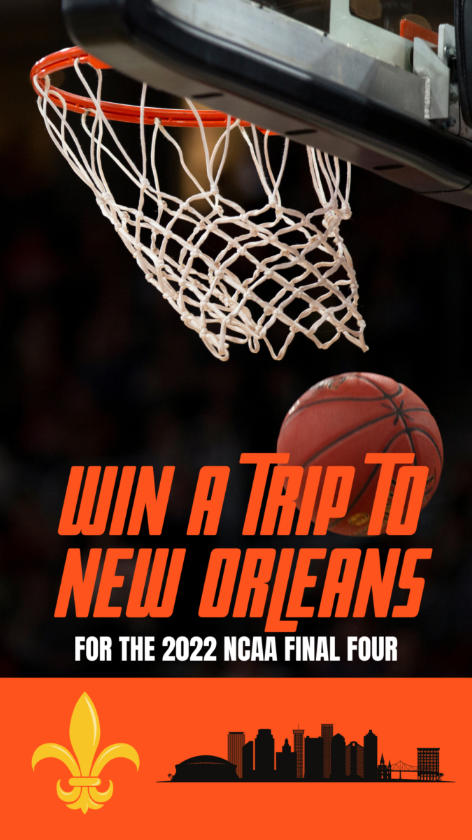 Win tickets to the 2022 NCAA Final Four & a vacation in New Orleans