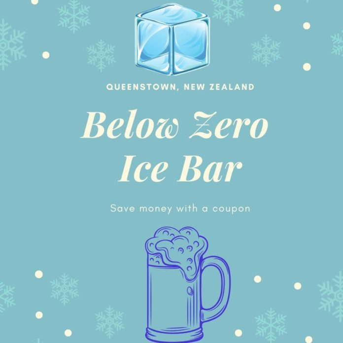 Discount price for entry, mocktail, cocktail, shots at Below Zero Ice Bar in Queenstown, New Zealand