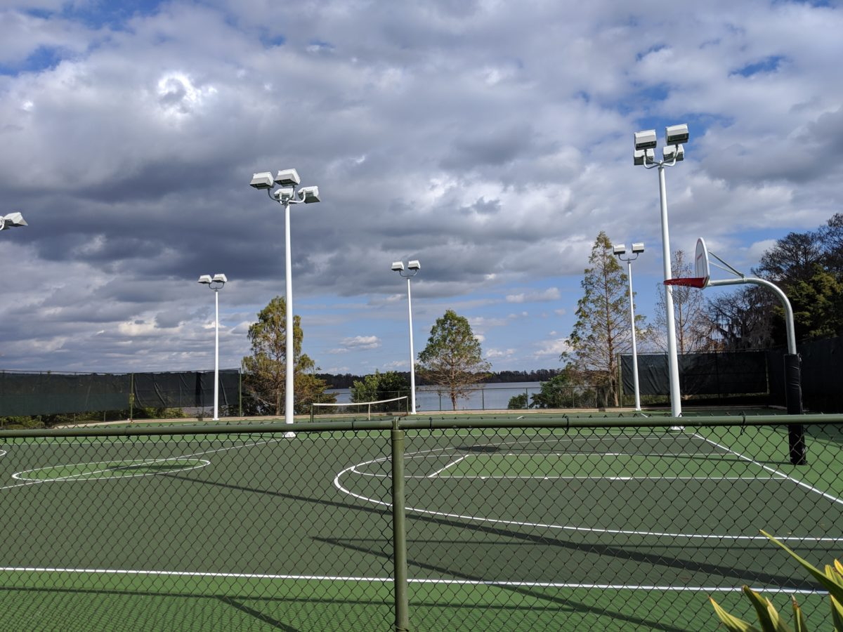 Play basketball, volleyball, tennis, or other sports at the Contemporary hotel at Walt Disney World Resort