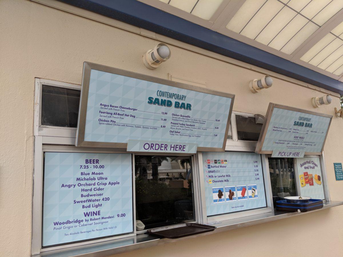 The Contemporary hotel at Walt Disney World Resort has many dining options like the Contemporary Sand Bar