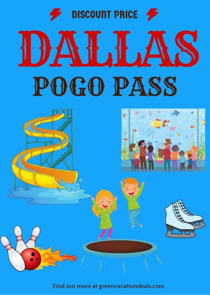 Free visits to aquarium, sports games, trampoline park, waterpark, etc. with Dallas Fort Worth Texas Pogo Pass