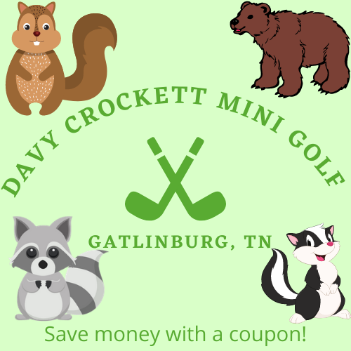 Save money with a combo pass for Ripley's attractions including Davy Crockett Mini-Golf in the Great Smoky Mountains
