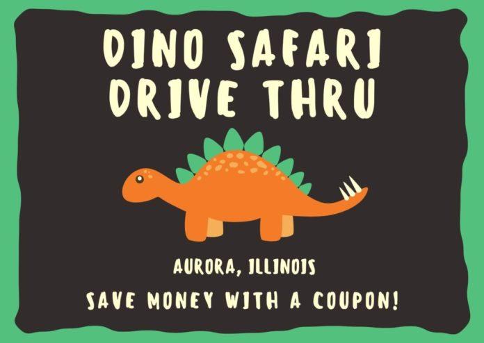 Chicago, Illinois area dinosaur drive thru exhibit discounted ticket