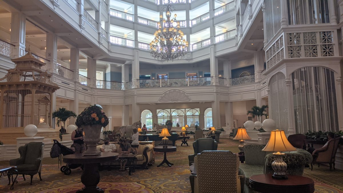 The lobby of the Grand Floridian in Orlando is perfectly themed