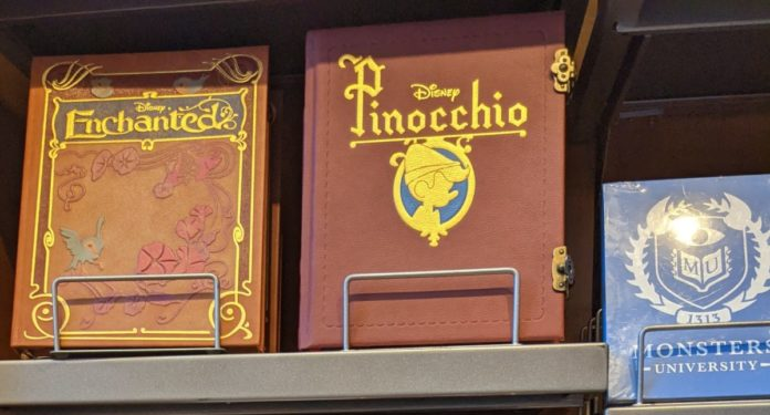 Top Disney journals & notebooks themed to Enchanted, Mickey, Minnie, Marvel, Star Wars, Tinker Bell, Cars, Beauty & The Beast