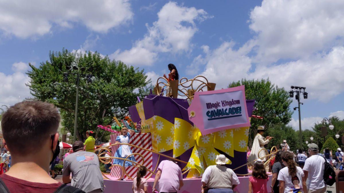 A picture of a Disney Character Cavalcade at Magic Kingdom at the Walt Disney World Resort in Orlando, Florida