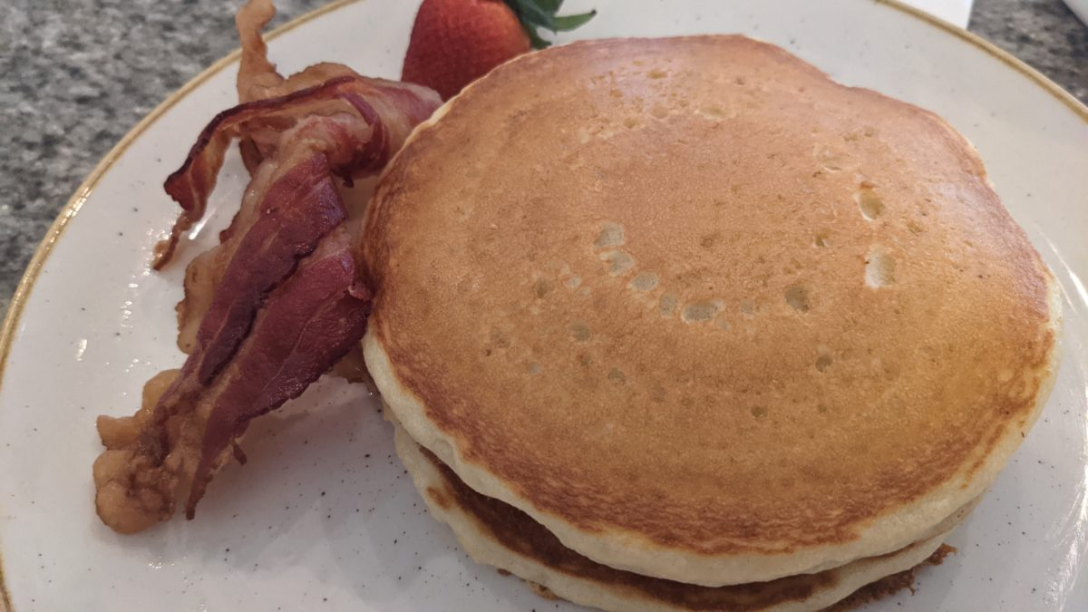 My family loved the Old-fashioned Buttermilk Pancakes at breakfast at Grand Floridian Cafe in Orlando