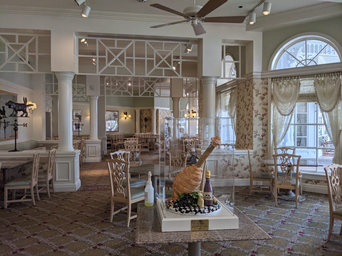 Disney magic is alive at the Grand Floridian Cafe with touches in the restaurant's decor