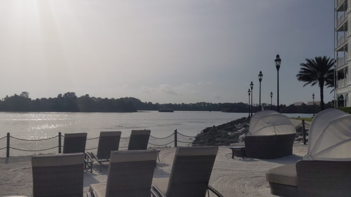 Disney's Grand Floridian hotel has a beach area