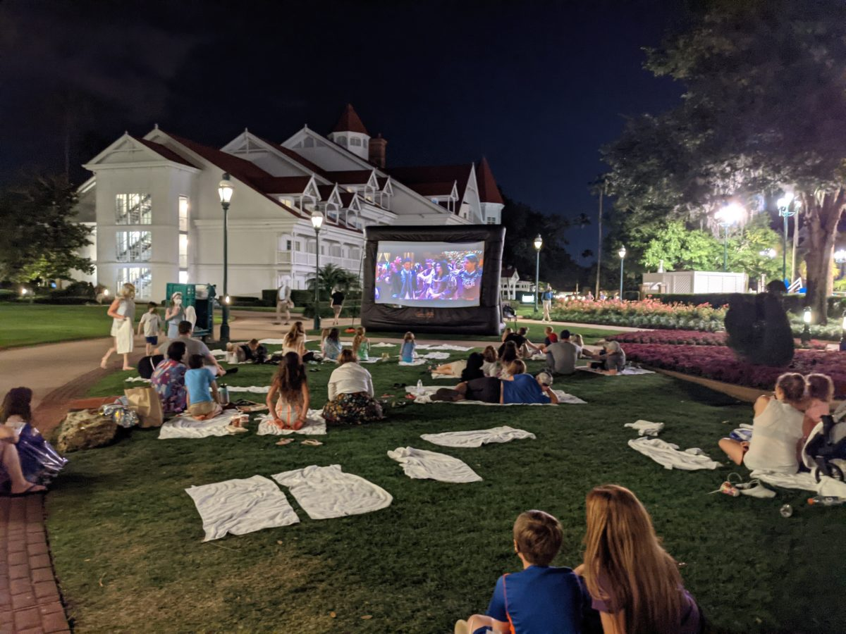 See a movie outside at Disney's Grand Floridian Resort & Spa in Orlando, FL
