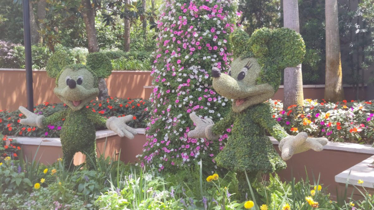 See Mickey, Minnie & other Disney characters at the Taste of Epcot International Flower & Garden Festival