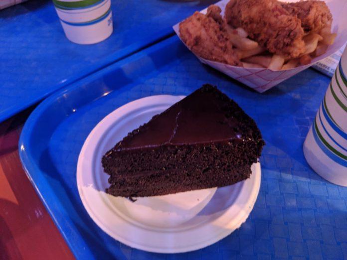 SeaWorld Orlando All Day Dining Plan chocolate cake