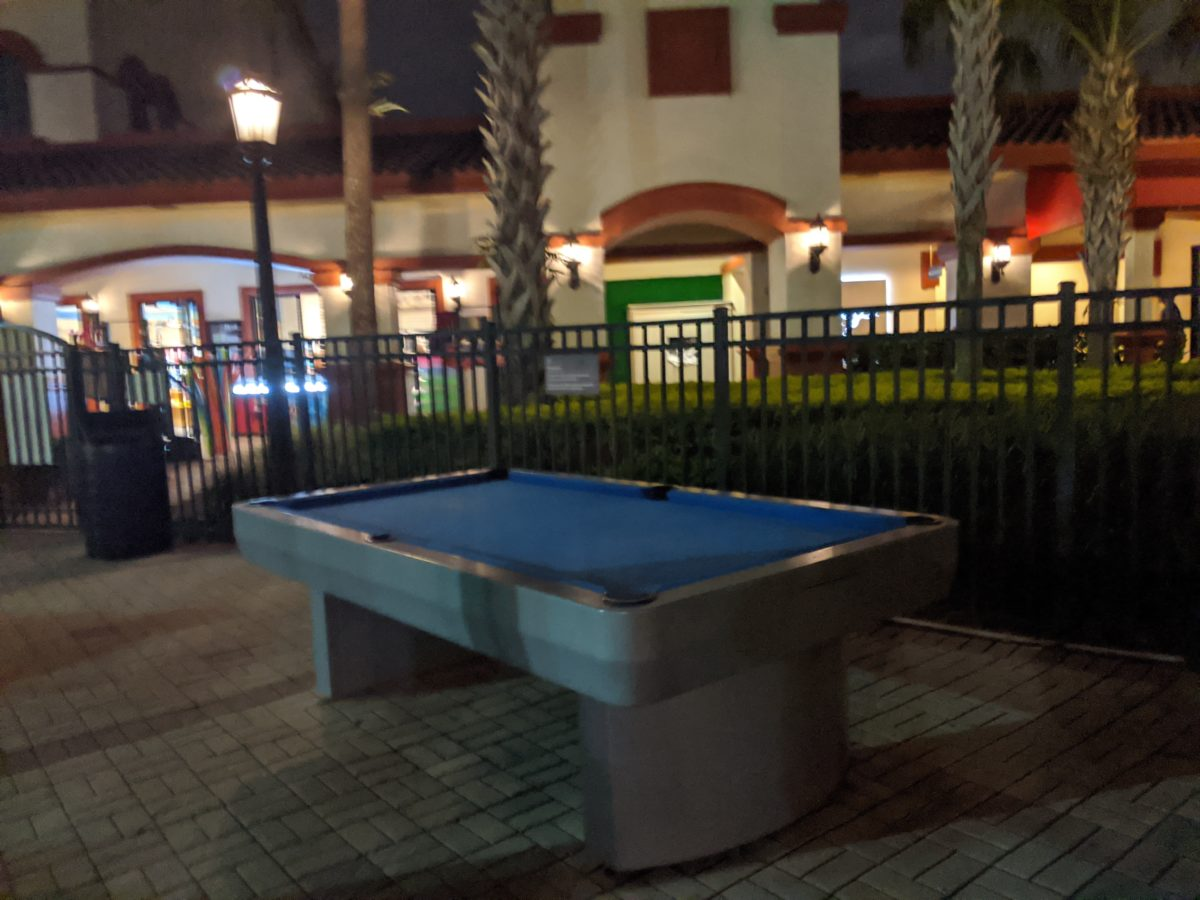 Recreational activities at Sheraton Vistana Resort on I-Drive in Orlando include playing pool
