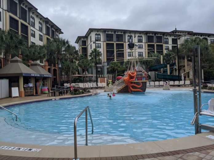 Sheraton Vistana Villages Resort in Orlando, Florida has great themed pools with slides
