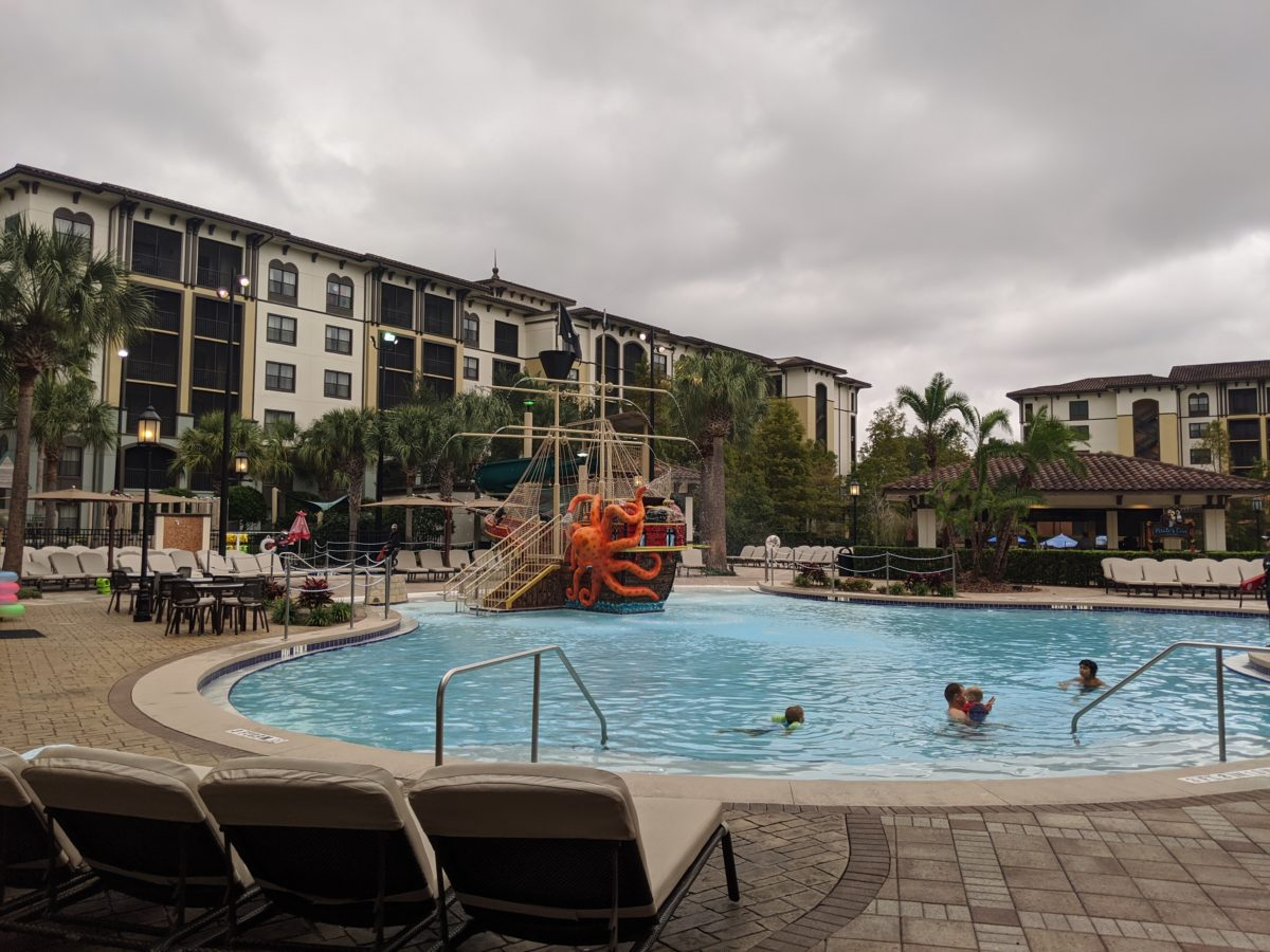 The St. Augustine part of Sheraton Vistana Villages Resort has a pirate themed pool