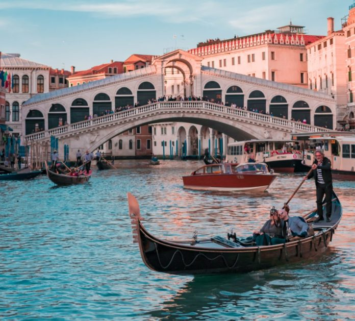 Discounted price of a ticket for a private gondola ride for two people in Venice, Italy