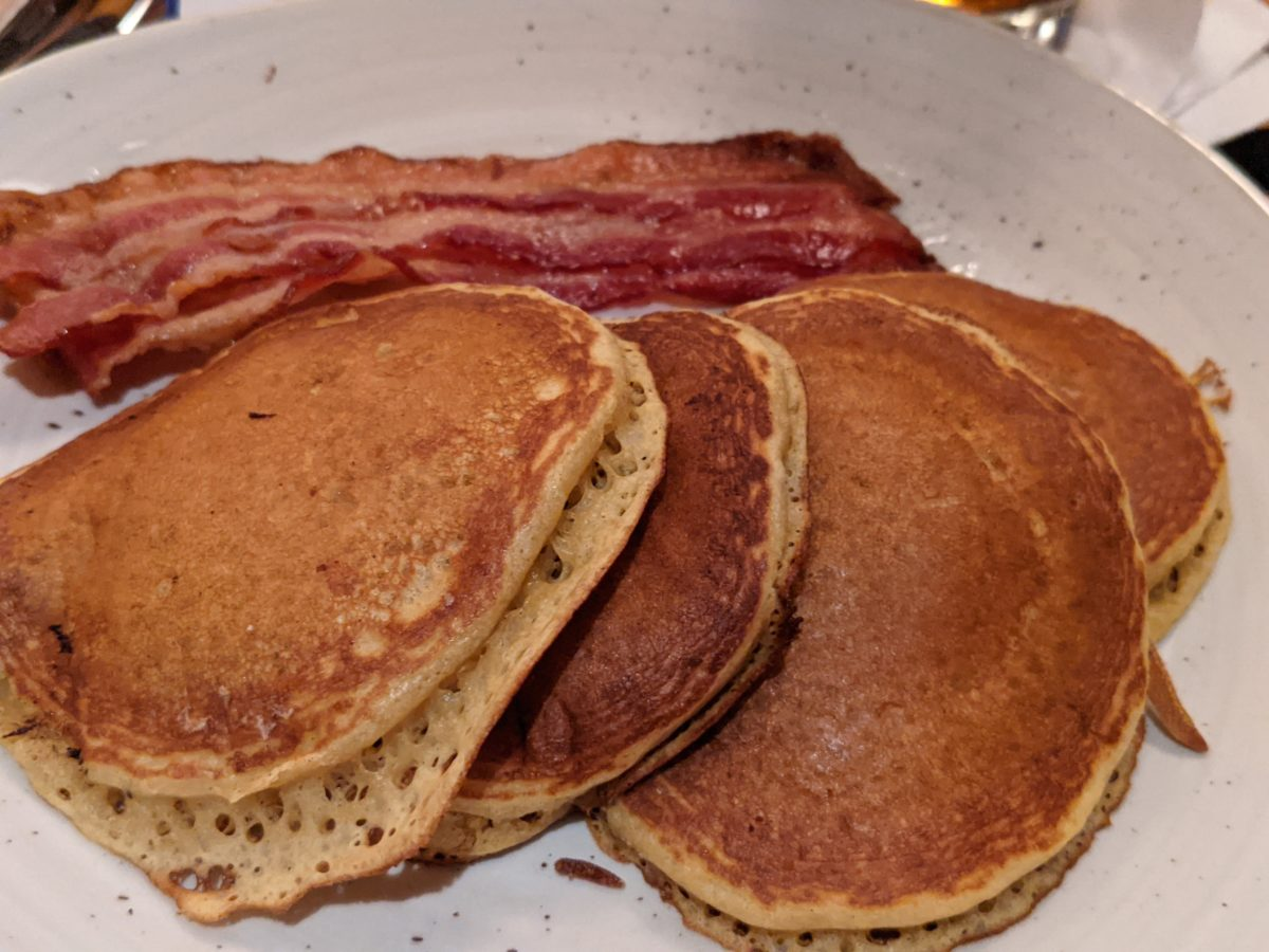 Wave Signature Sweet Potato Pancakes can be purchased at the restaurant in Contemporary Resort in Walt Disney World in Orlando