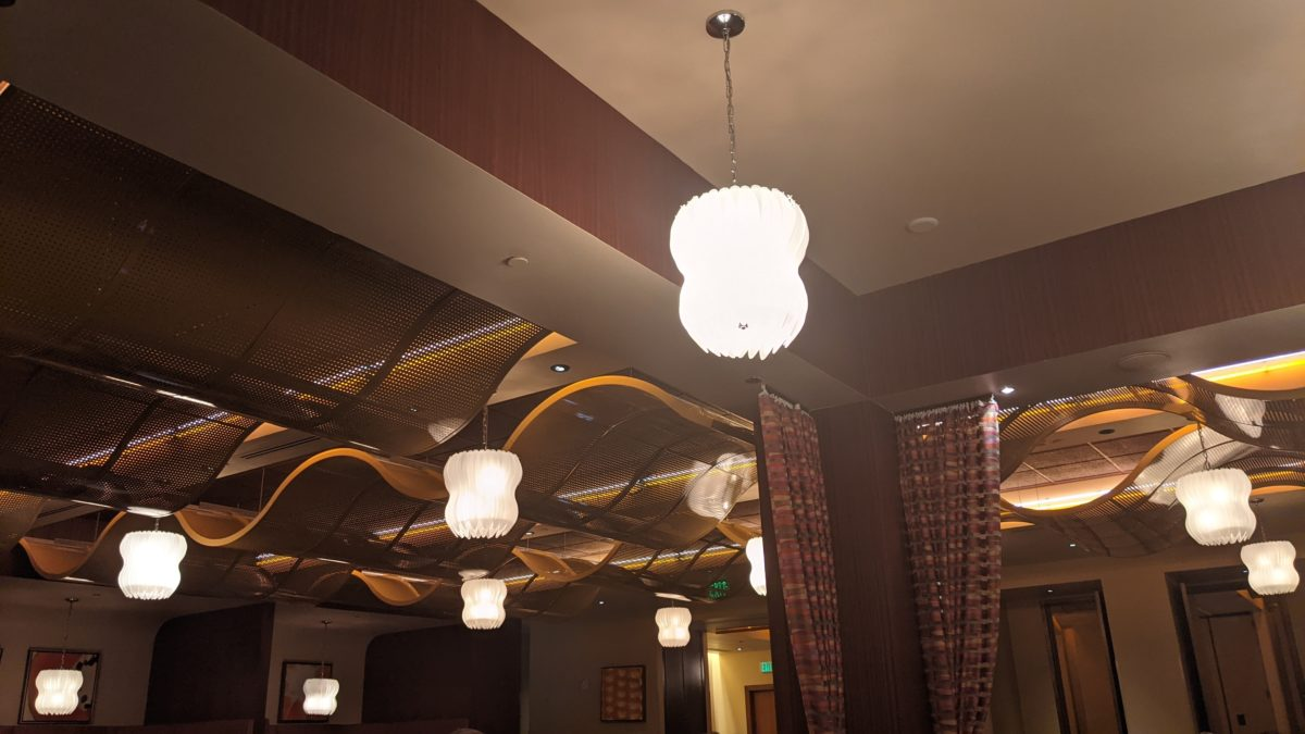 My family loved the decor at Waves of American Flavors a Contemporary Resort restaurant