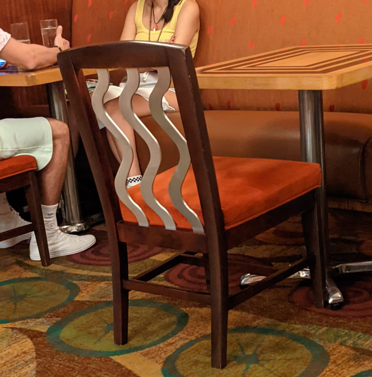 A picture of the chairs at Waves of American Flavor a restaurant at Disney's Contemporary Resort in Orlando