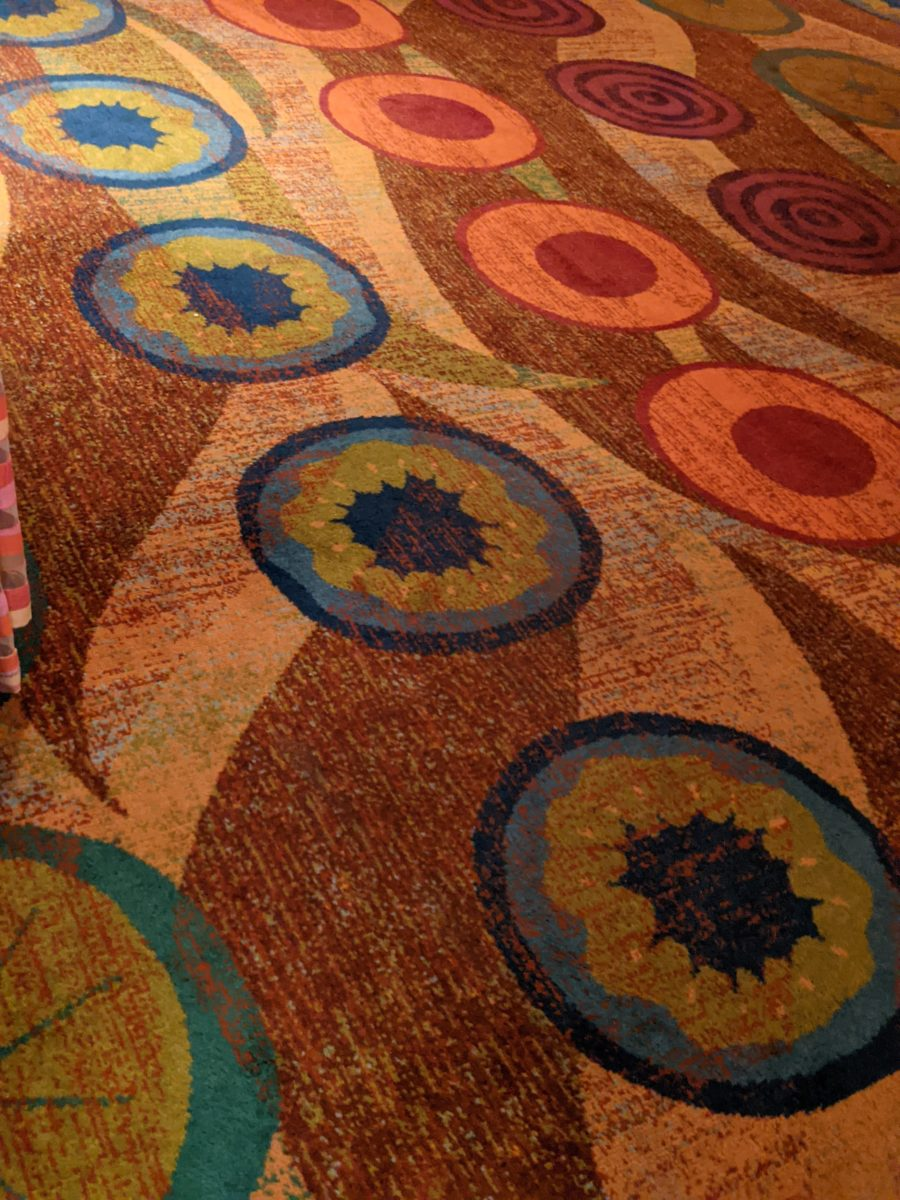 A picture of the carpet at Waves of American Flavor at Contemporary Resort at Disney World in Orlando, Florida