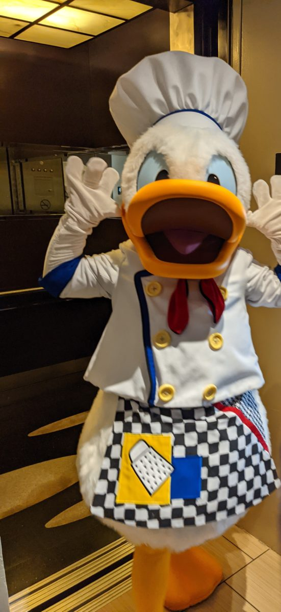 See Donald Duck at the Contemporary hotel at Walt Disney World Resort in Orlando, FL