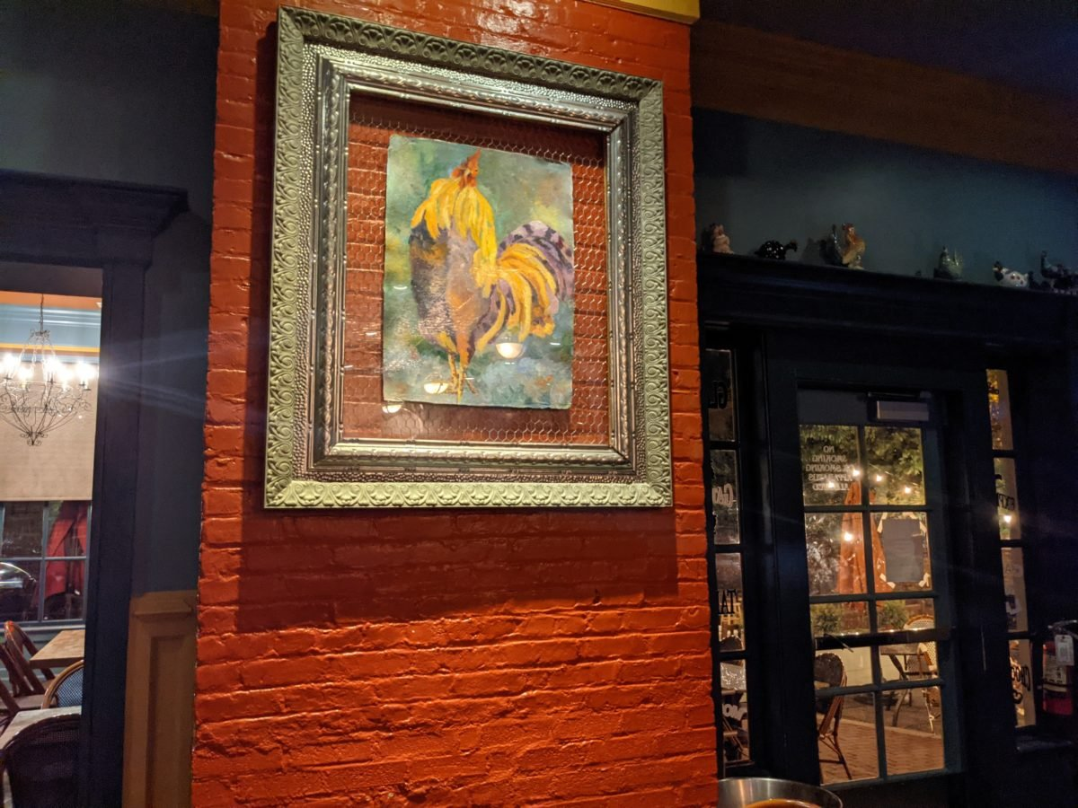 Blue Talon Bistro is a fun restaurant near Colonial Williamsburg