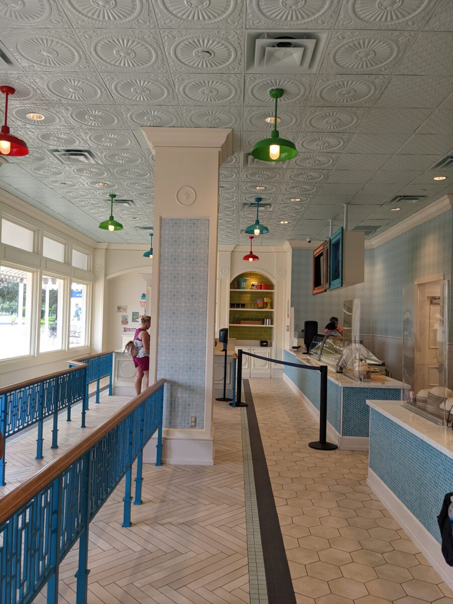 You can order ice cream at Disney's Boardwalk Resort & then eat it inside