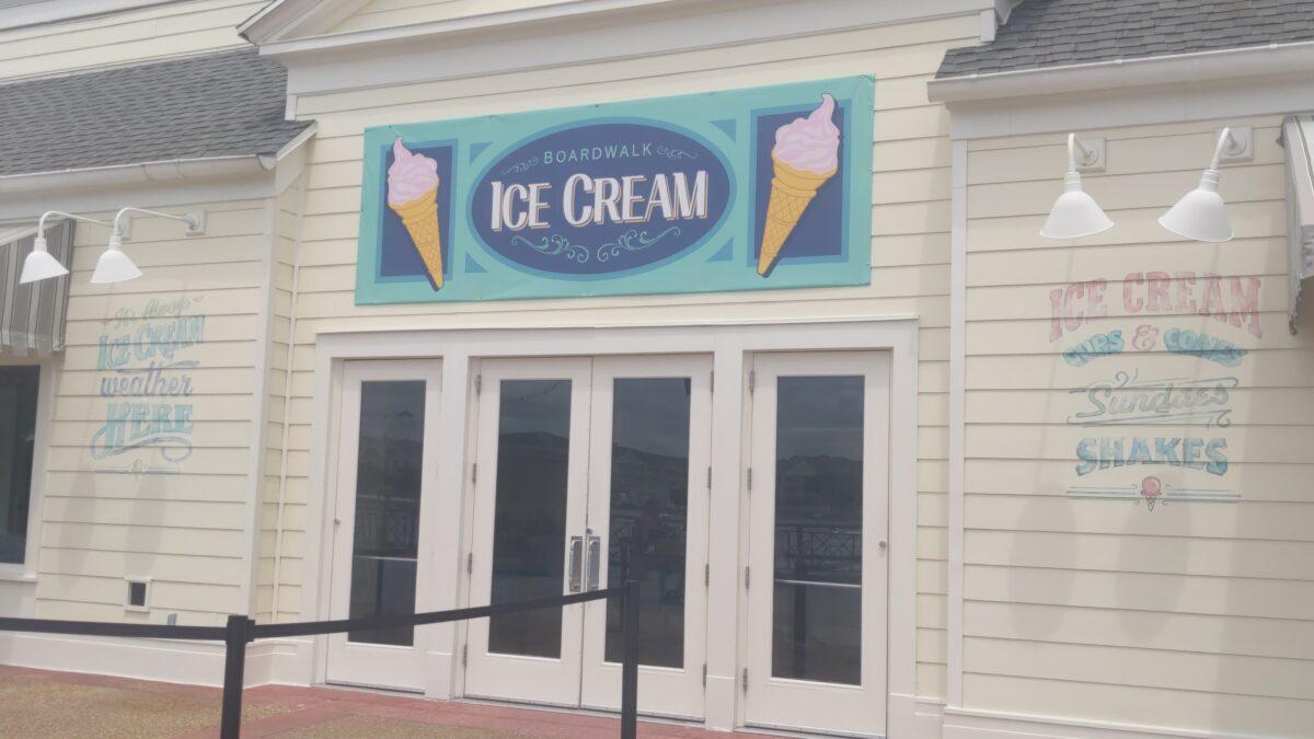 Boardwalk Ice Cream is a new dining establishment on Disney's Boardwalk in the Epcot & Hollywood Studios area of Disney World