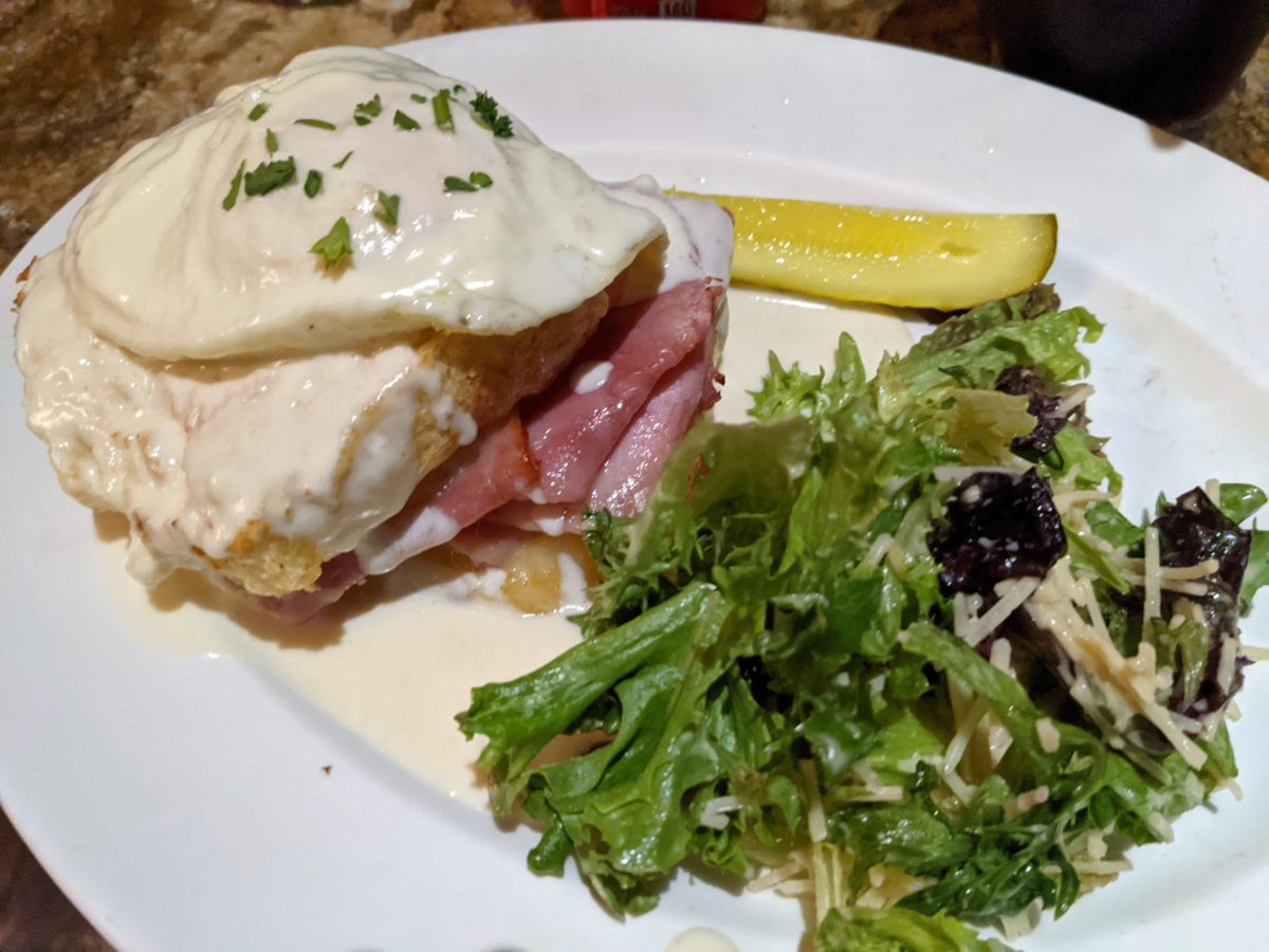 Blue Talon Bistro in Williamsburg has delicious sandwiches like this ham cheese, and egg one