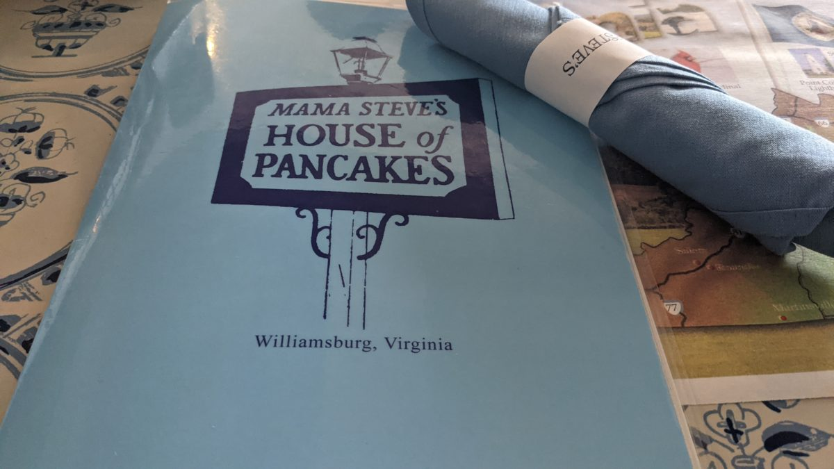 A picture of Mama Steve's House of Pancakes menu