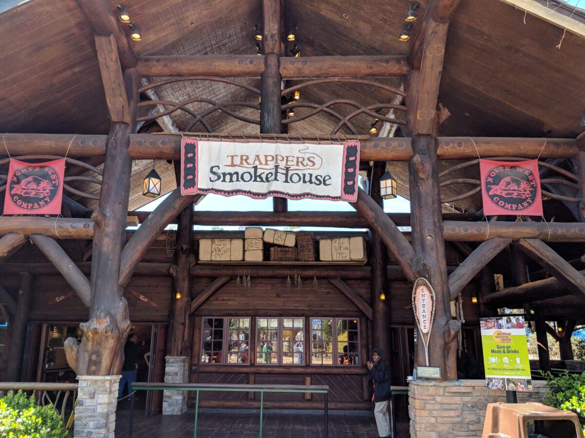 Trapper's Smokehouse Restaurant at Busch Gardens Williamsburg with Ribs, Chicken, Brisket