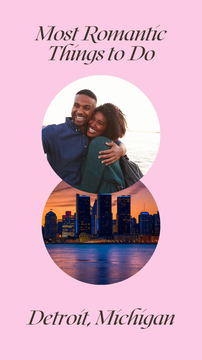 Romantic activities in Detroit, Michigan for couples: helicopter tour, couples massage, antique car tour, dancing lessons, etc.