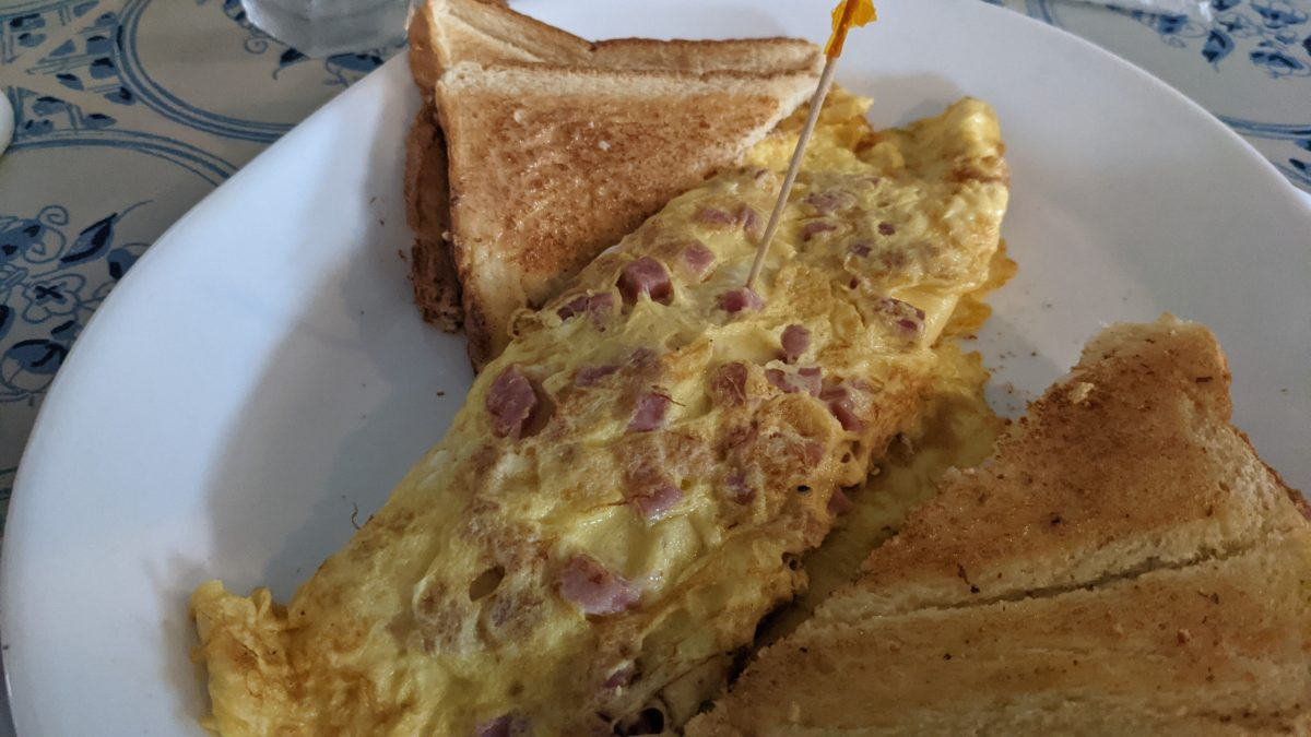 Ham & cheese omelets at Mama Steve's in Williamsburg are delicious according to my family