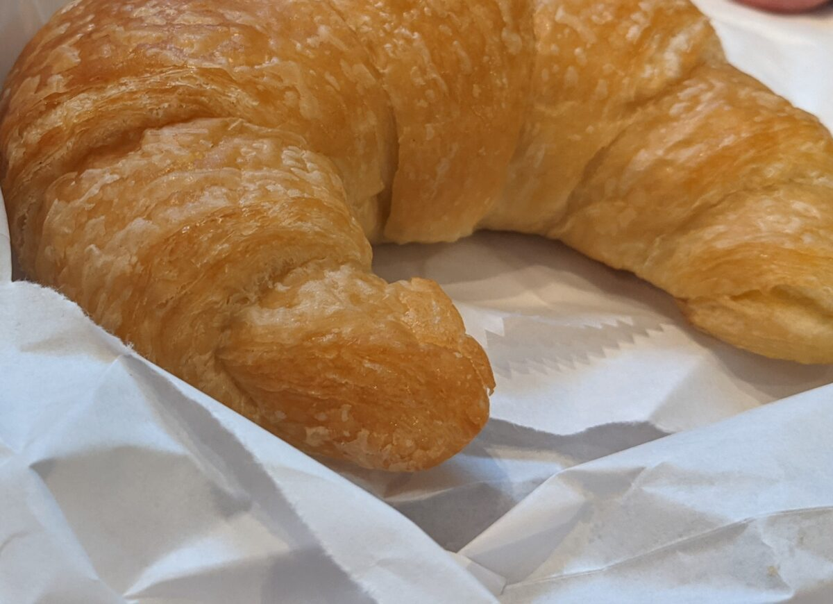 A review of SeaWorld's new Coaster Coffee Co., including this croissant we got