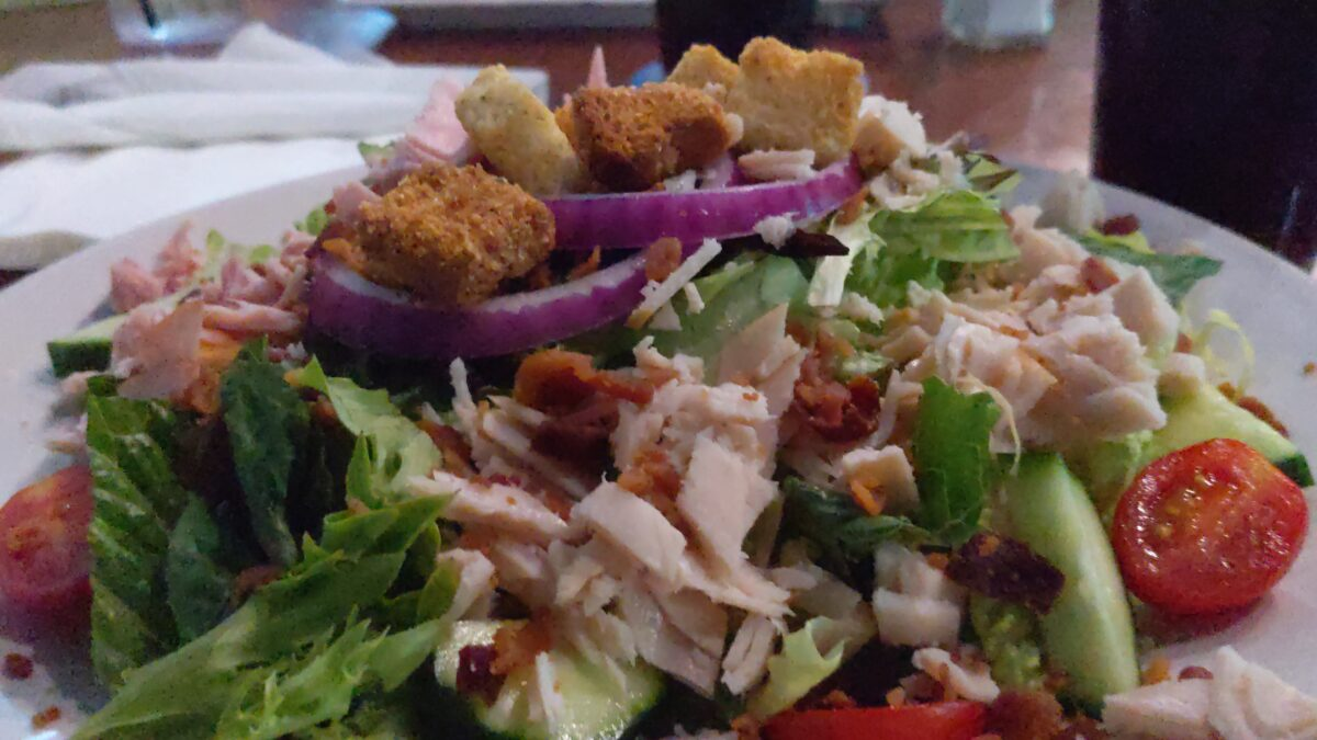 Monkey's Uncle in Jacksonville Beach, Florida has great menu items like this chef's salad