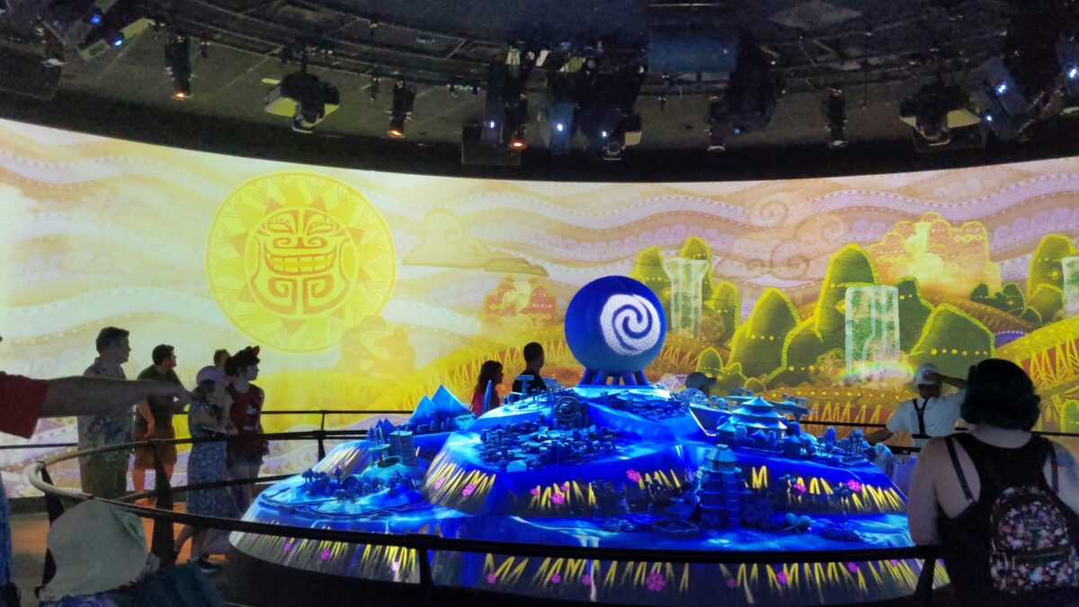 Journey of Water, inspired by Moana, is one of the new Epcot attractions you can see previewed at the EPCOT Experience in the Odyssey Pavilion