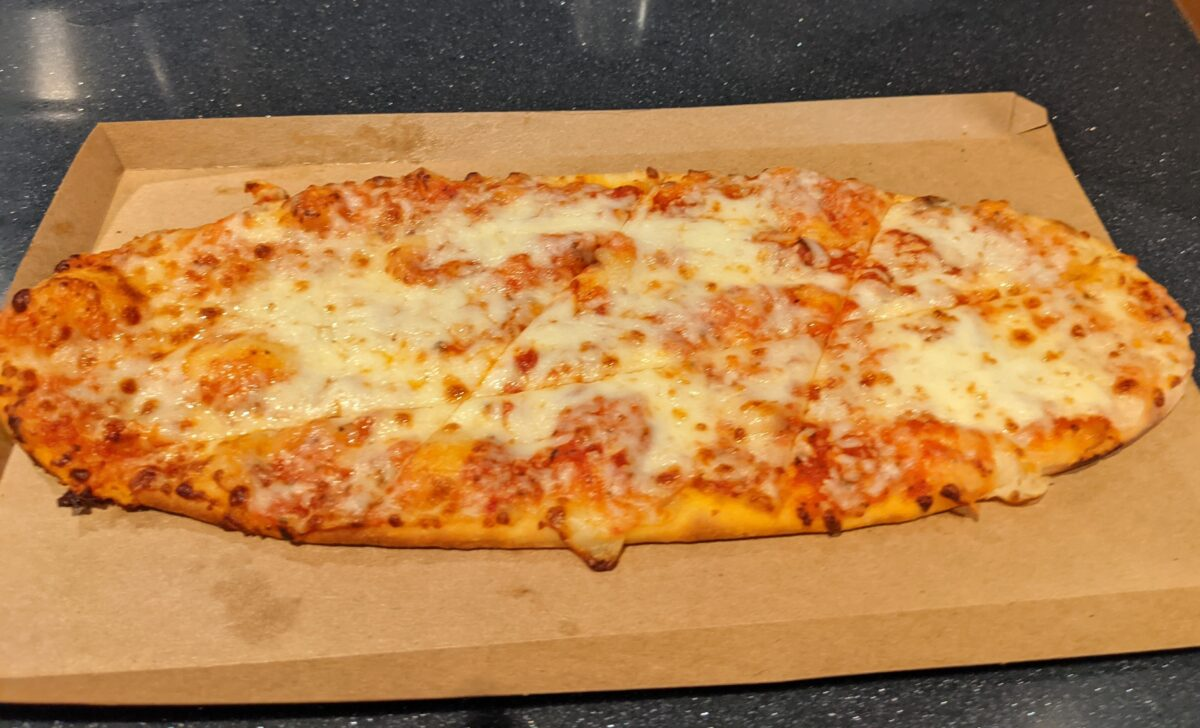 Try the flatbreads at the Brew-Wing at the Epcot Experience at the Walt Disney World Resort