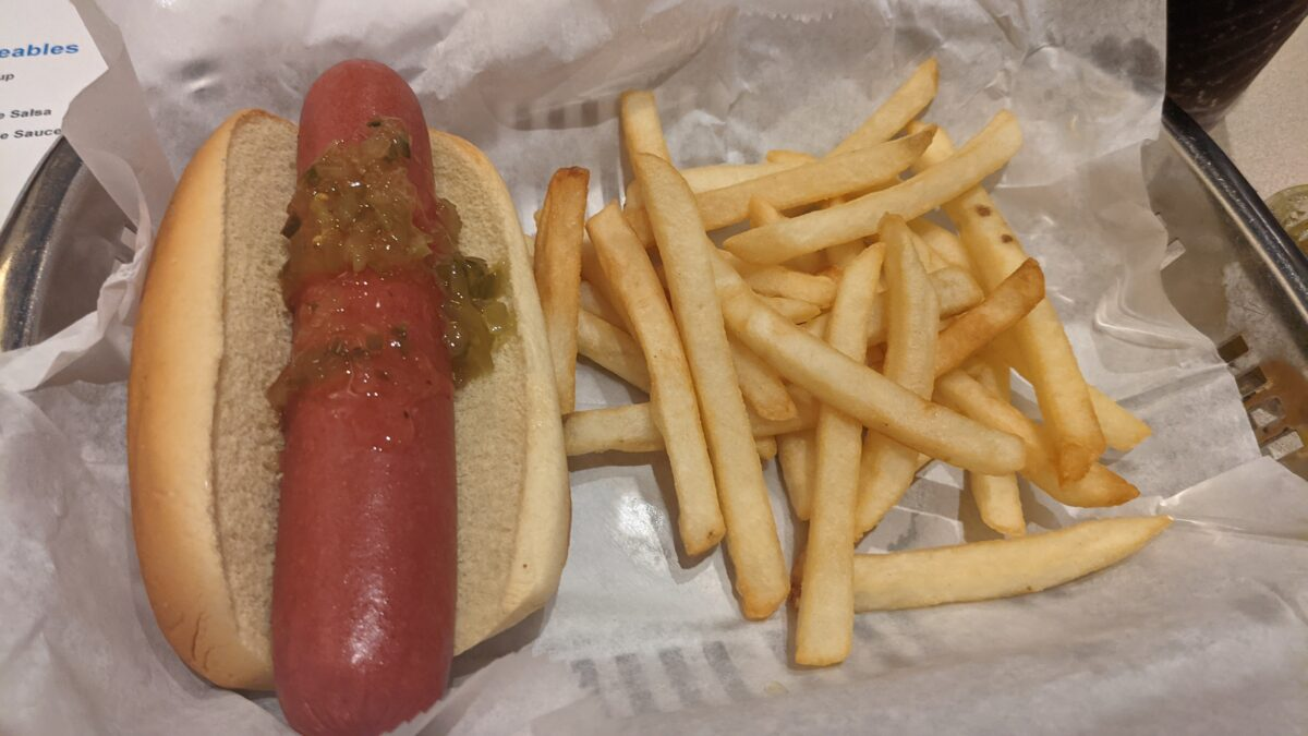 The Fountain at the Dolphin hotel in the Walt Disney World Resort in Orlando serves American cuisine like hot dogs