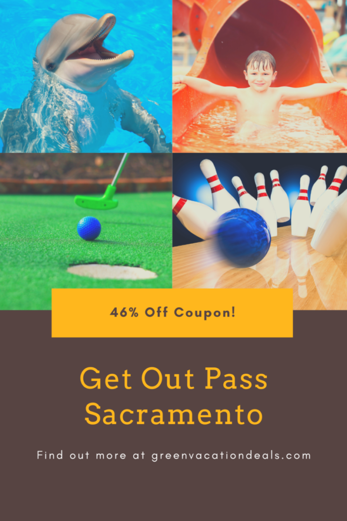 Free admission to Six Flags, waterpark, bowling, min golf, SeaQuest & more with GetOutPass Sacramento, currently on sale for 46% off