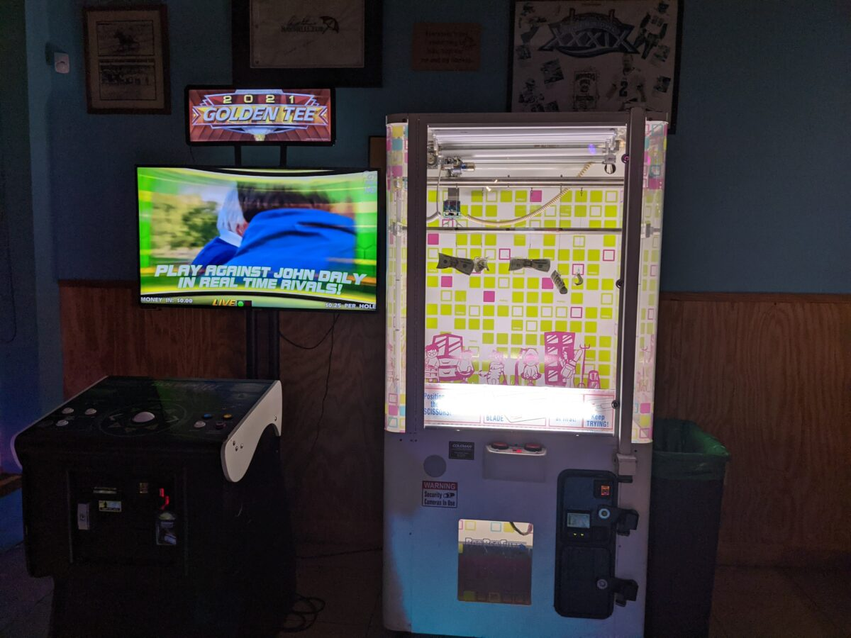 Arcade games are a great attraction at Monkey's Uncle Tavern in Jacksonville Beach, Florida