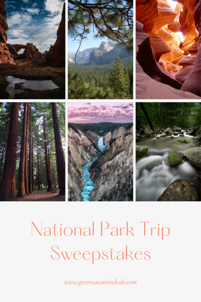 Enter GoGo Sqeez - GoGo Explore Sweepstakes for a free trip to Grand Canyon, Yosemite, Yellowstone or any other national park of your choice