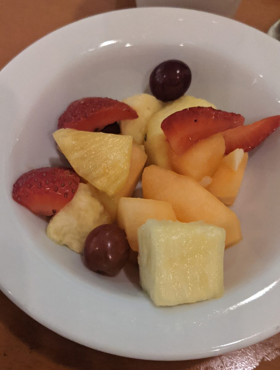 Cape May Cafe at Beach Club's breakfast buffet includes fruit