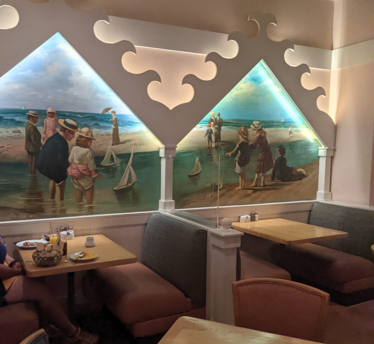 Cape May Cafe at Beach Club in Disney World has a great New Jersey beach theme