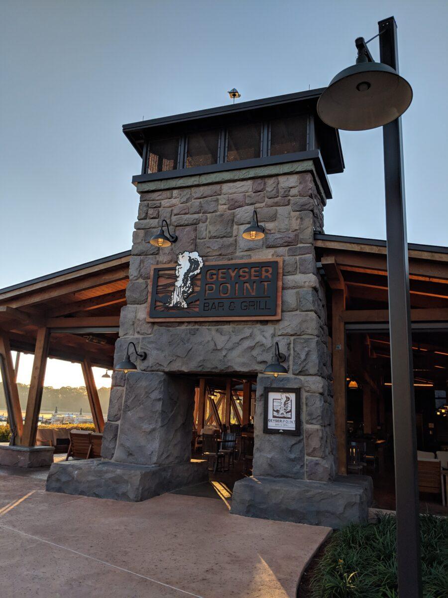 Geyser Point Bar & Gill is one of the newer restaurants at Walt Disney World Resort in Orlando, Florida