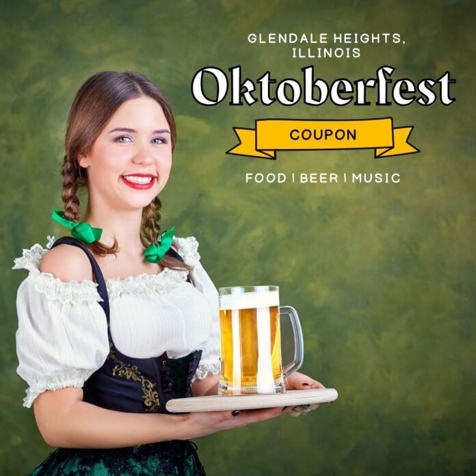 Discount ticket price for Chicago area Oktoberfest event with beer, live entertainment