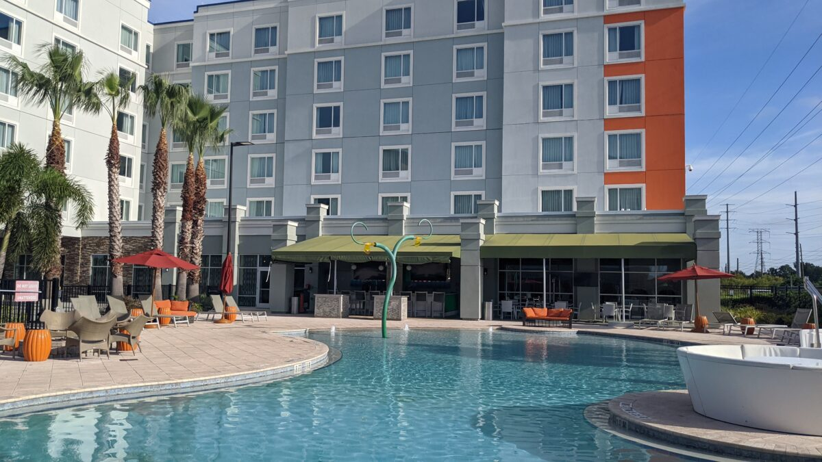TownPlace Suites Orlando at SeaWorld has a great pool complex the whole family can enjoy